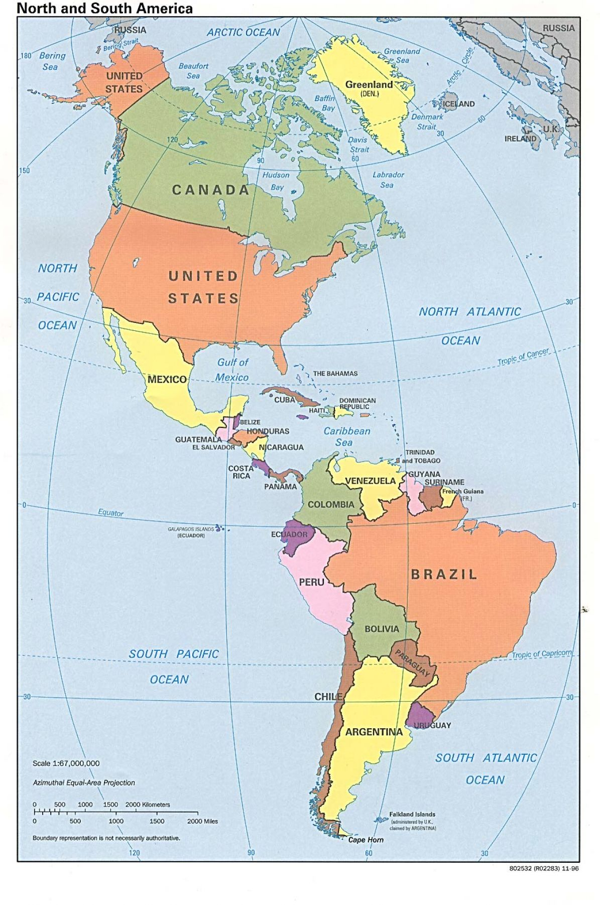 Exhilarating image with regard to printable map of north and south america