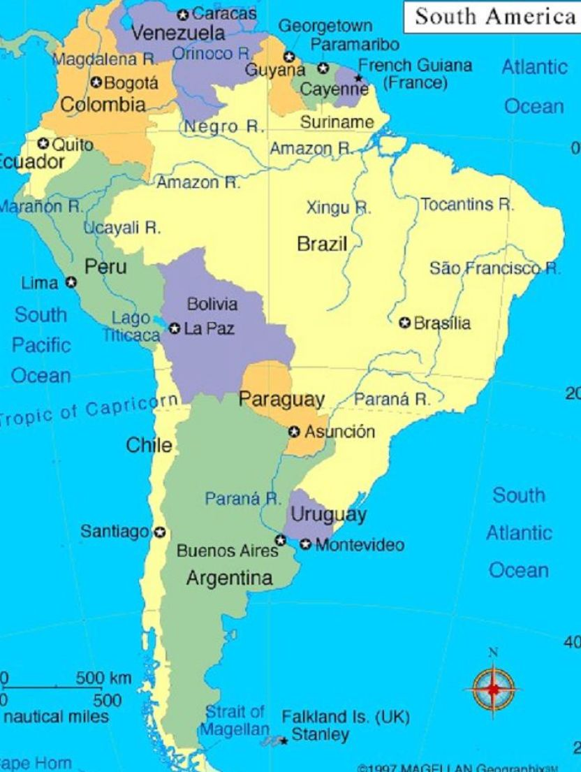 South American Countries And Capitals