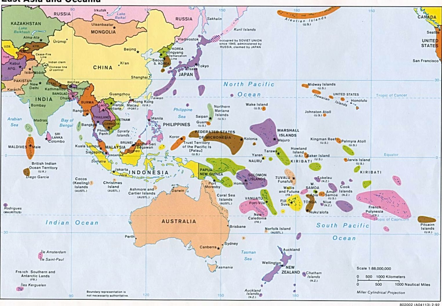 Map Of Southeast Asia And South Pacific