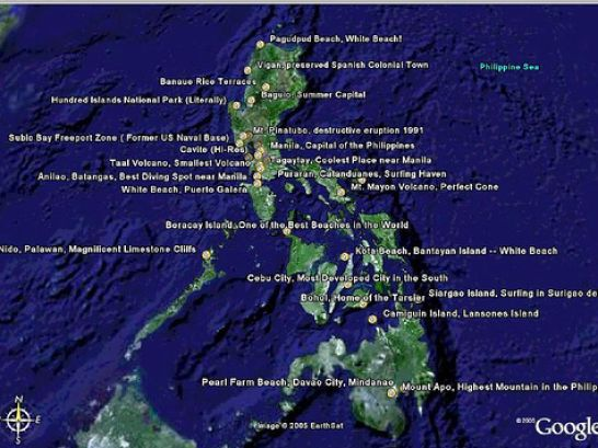 map of the philippines via satellite 2