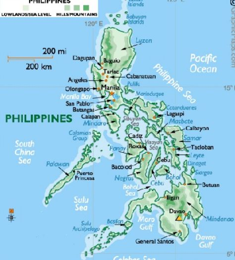 map of the philippines via satellite 3