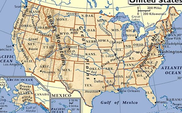 United States Labeled Map Free Drawing Tutorial And Manual Online - Map of usa labeled