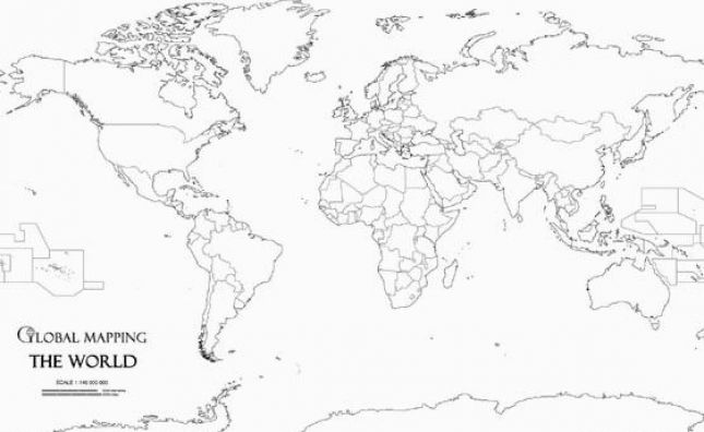 world map outline black. Printable world maps free