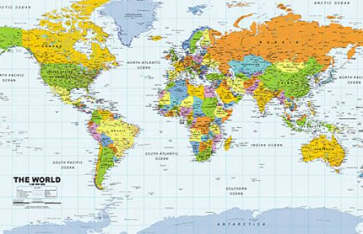 Map of the world continents and countries pictures 2