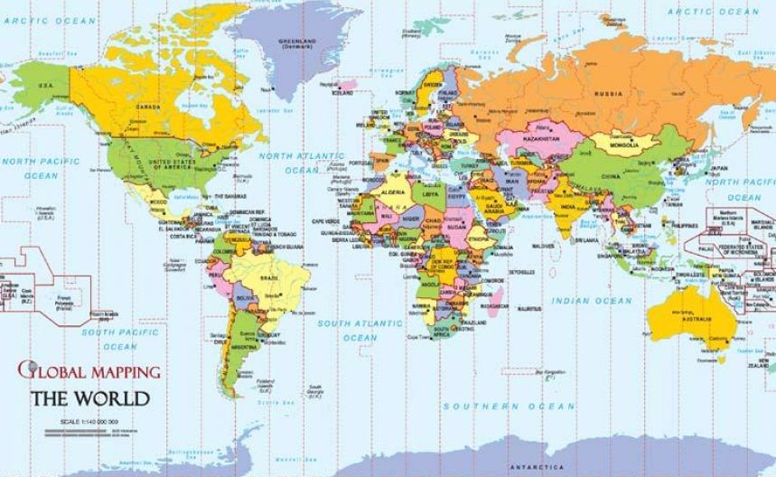Map of the world countries and capitals pictures 2