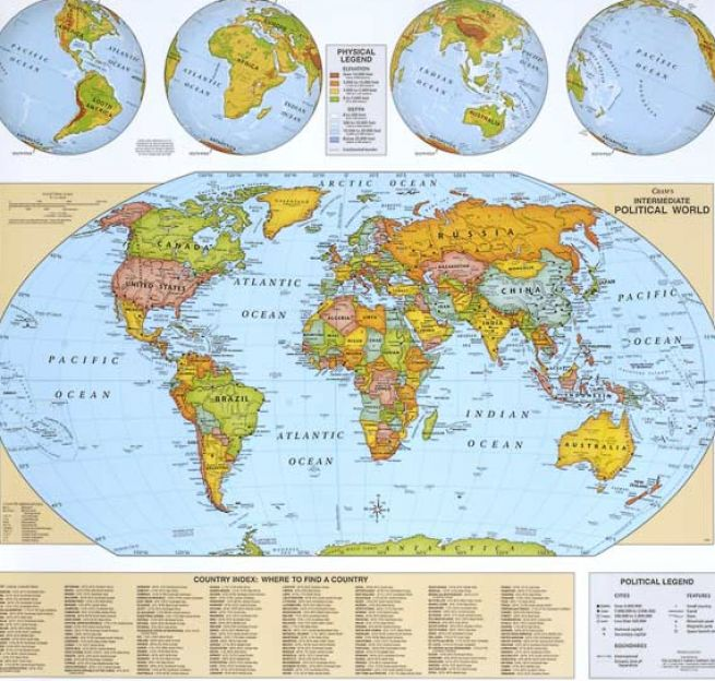 Free World Maps with Countries Labeled