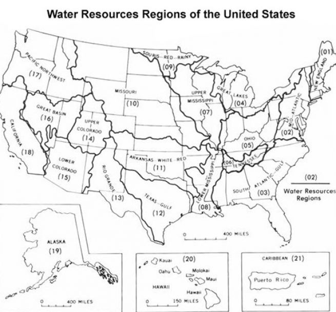 Map/us Map With Labeled Rivers And Mountains   Online World Maps