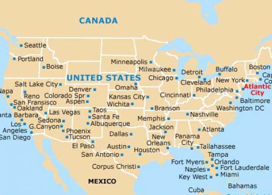 map of us cities. Us map complete map of the