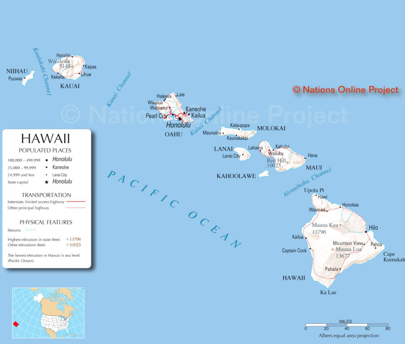 Pics Photos  Hawaii Map Usa