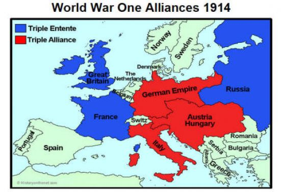 Map Of World War 1 Alliances Pictures to Pin on Pinterest ...