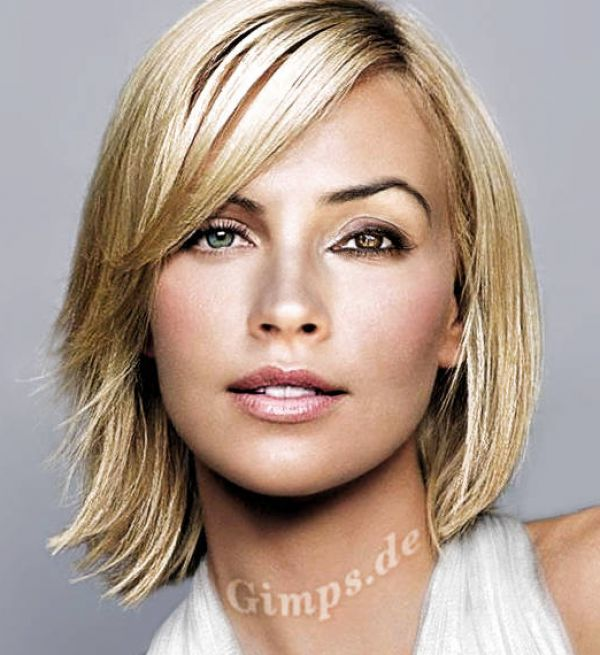 Medium Hairstyles for Round Faces Thin Hair
