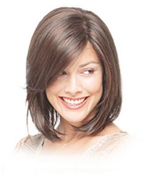 Medium length bob with side bangs pictures 1