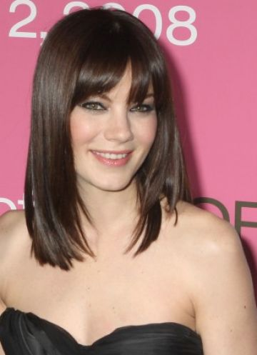 long hair with bangs styles. Medium length hair with angs