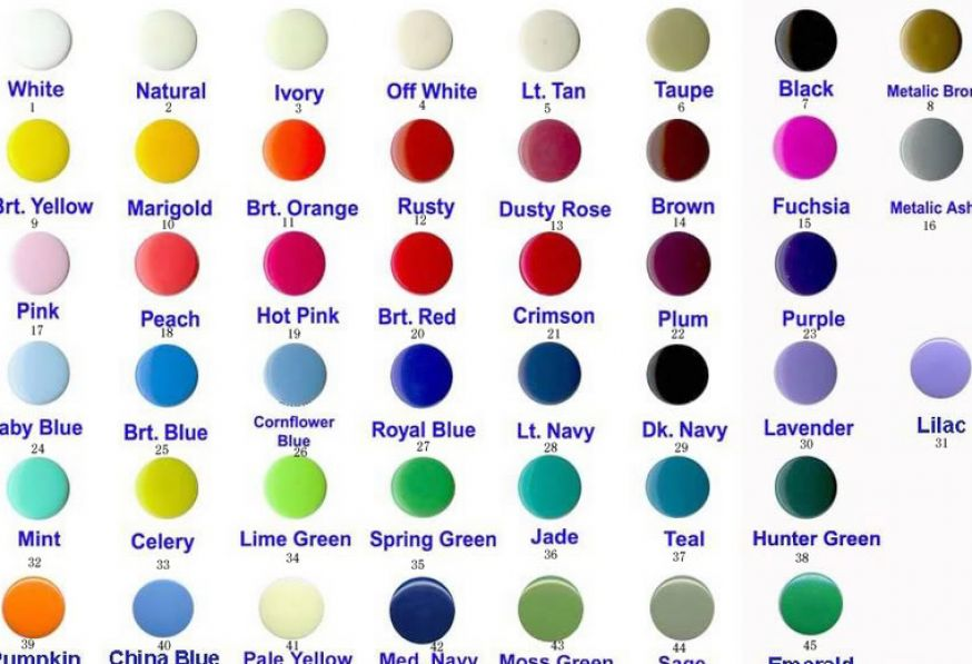Green Color Chart with Names