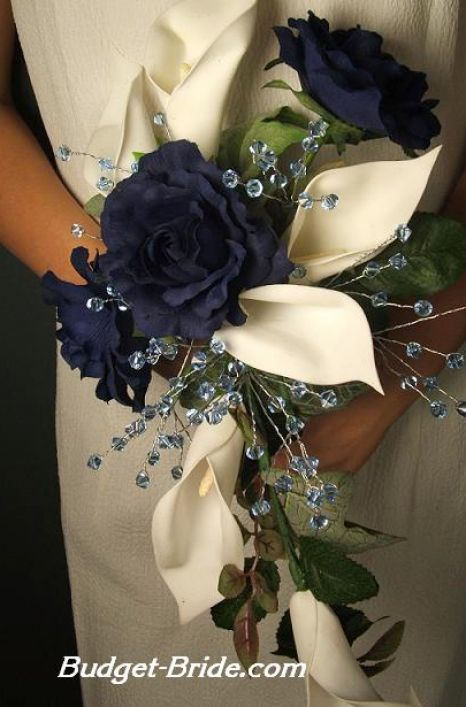Navy Blue Wedding Flowers Pictures 2