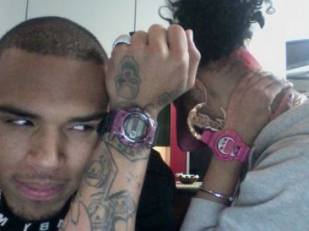 Chris Brown  Blonde Hair on New Pictures Of Chris Brown With Blonde Hair Pictures 4