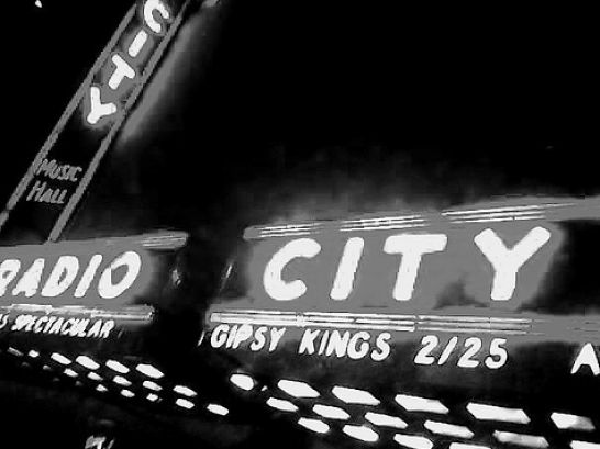 new york city at night black and white. A Black and White Big Apple