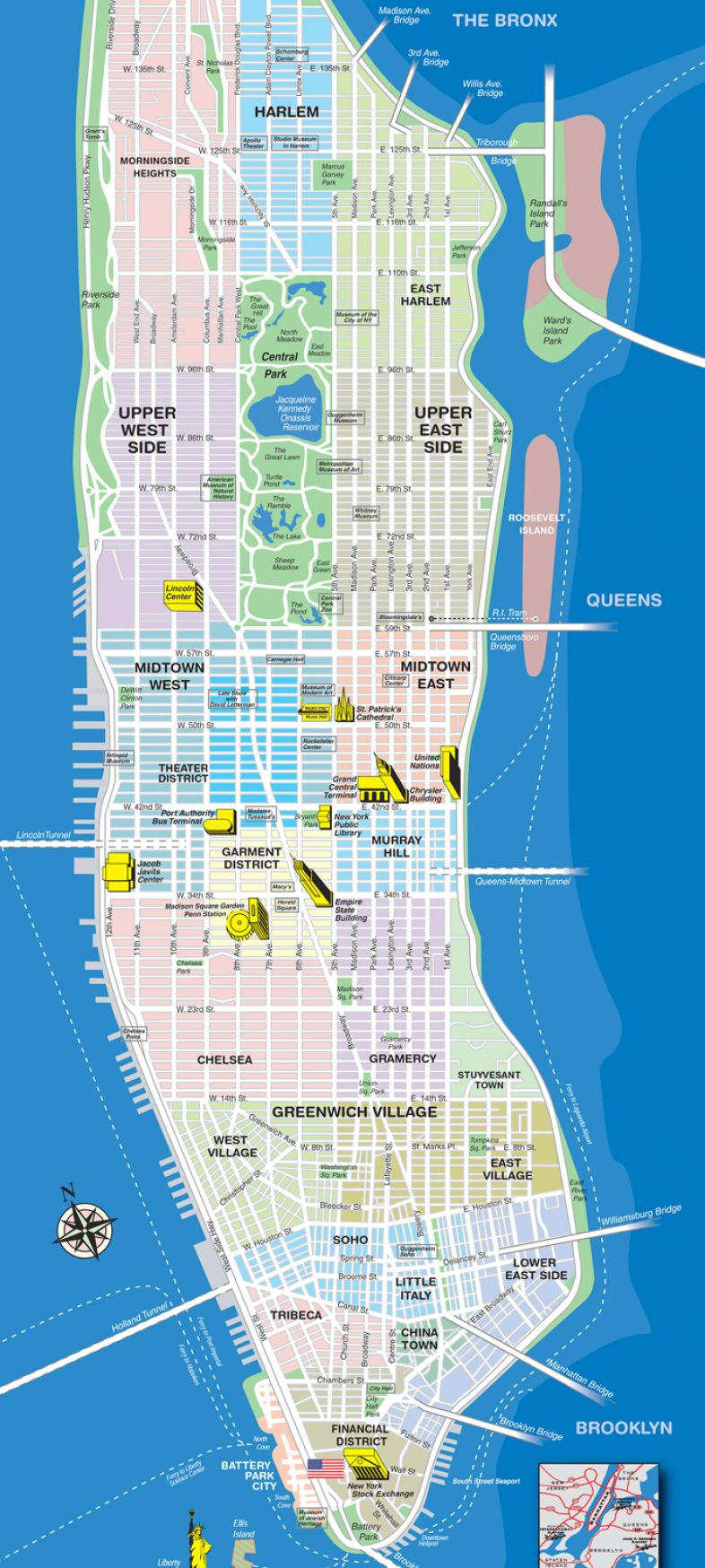 New york city map neighborhoods