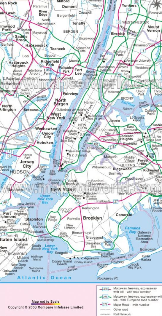 New York City Map Printable