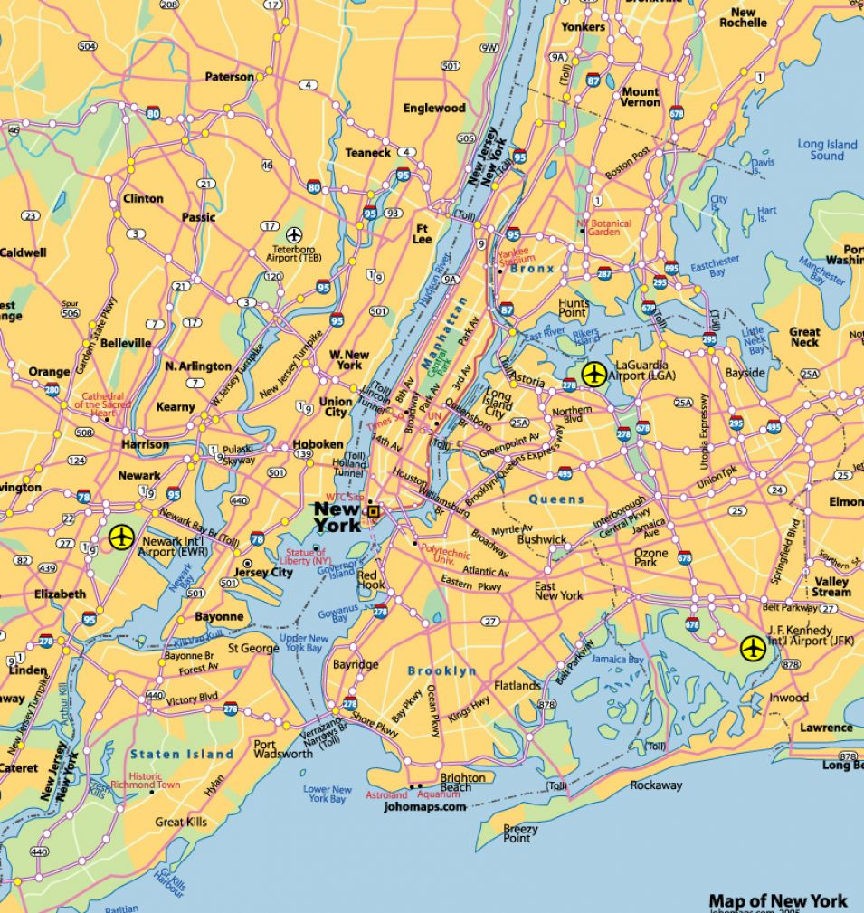 New york city map pictures 4
