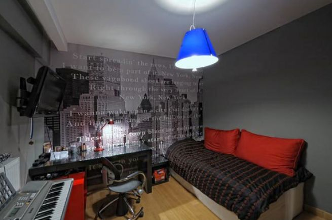 New york city wallpaper for bedroom the for Bedroom ideas nyc