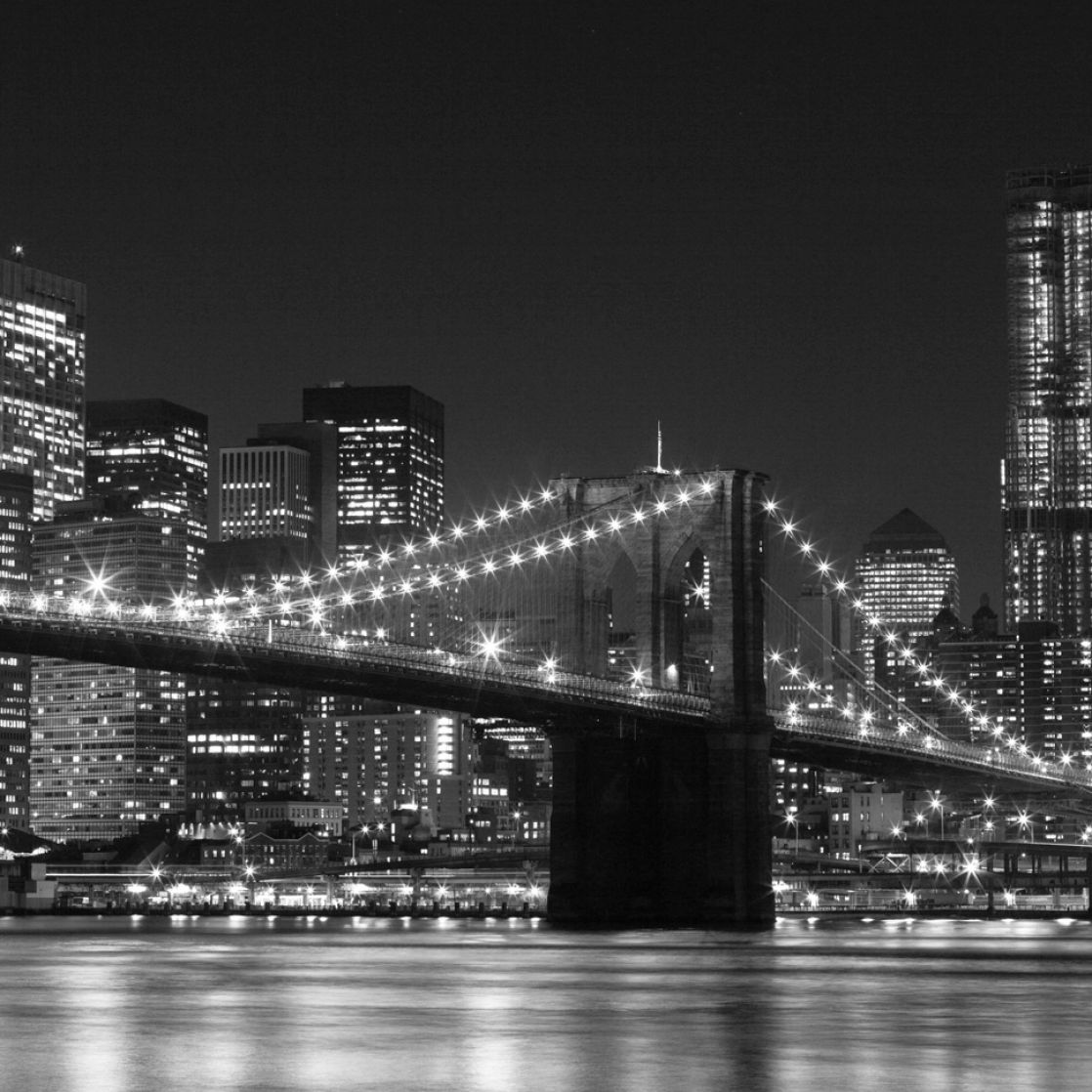 New york skyline black and white wallpaper pictures 2