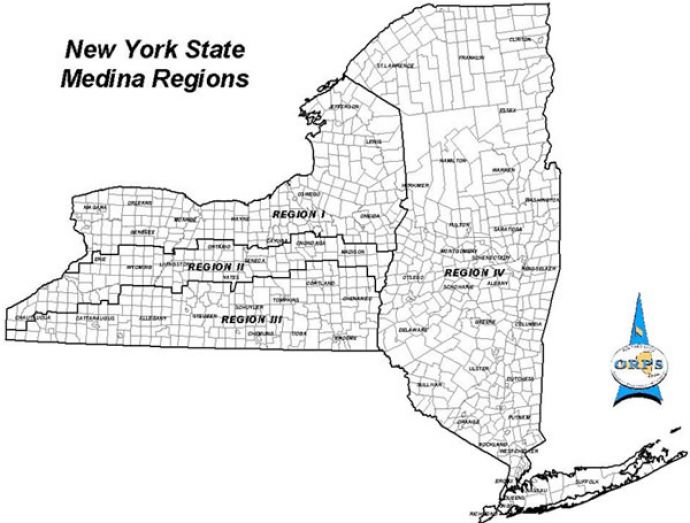 New York State Outline Map
