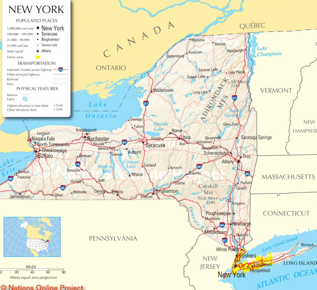 Similiar Map Of Ny State With Cities Keywords