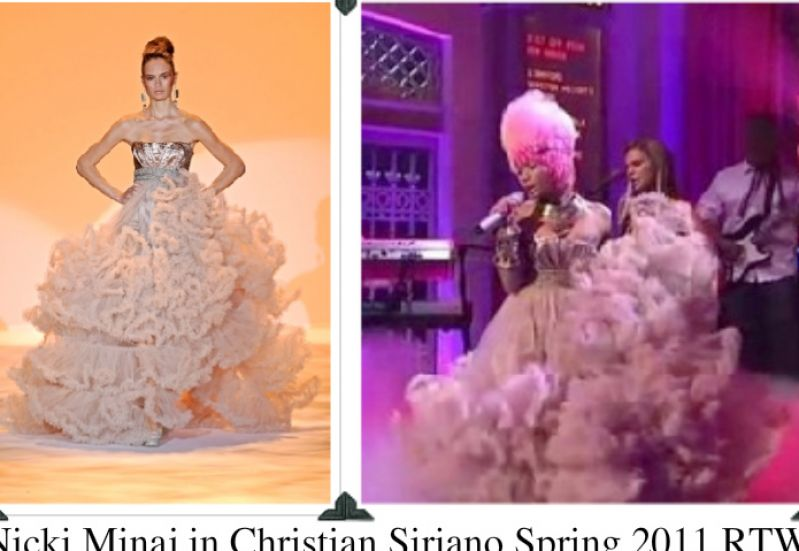 nicki minaj moment 4 life dresses. Did you see Nicki Minaj on SNL