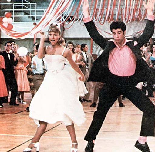 olivia newton john and john travolta in grease 2