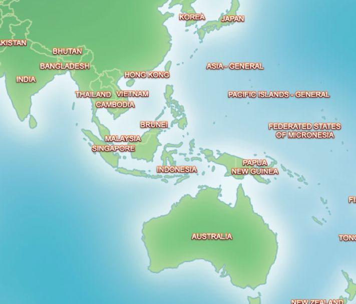 world map asia pacific. Outline maps blank world map