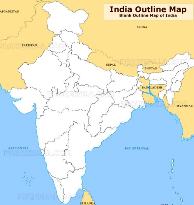 outline map of india with neighbouring countries 1
