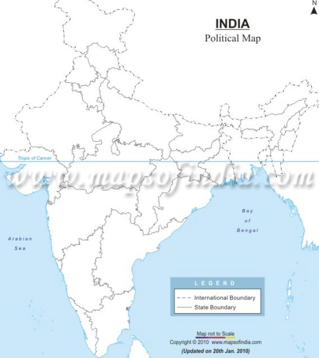 outline map of india with neighbouring countries 2