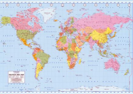 world map outline with country names. Outline maps world map map of