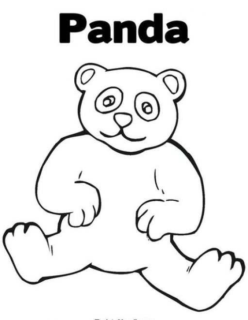 Panda Bear Face Coloring Coloring Pages