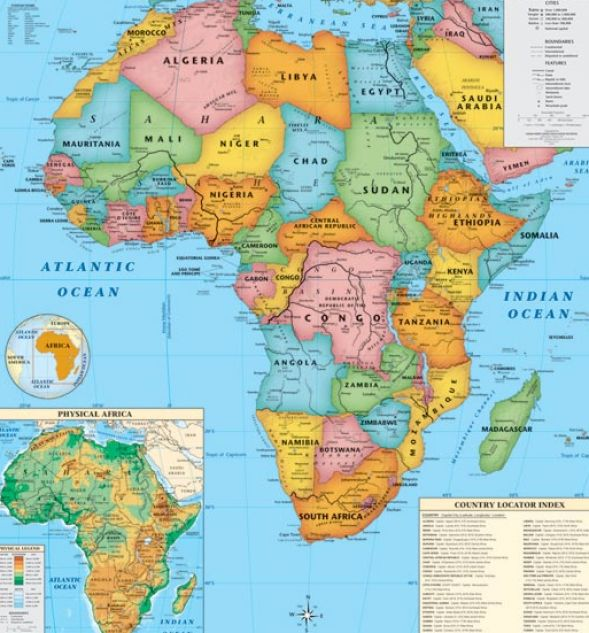 Map Of Africa With Landforms - Best Naked Ladies