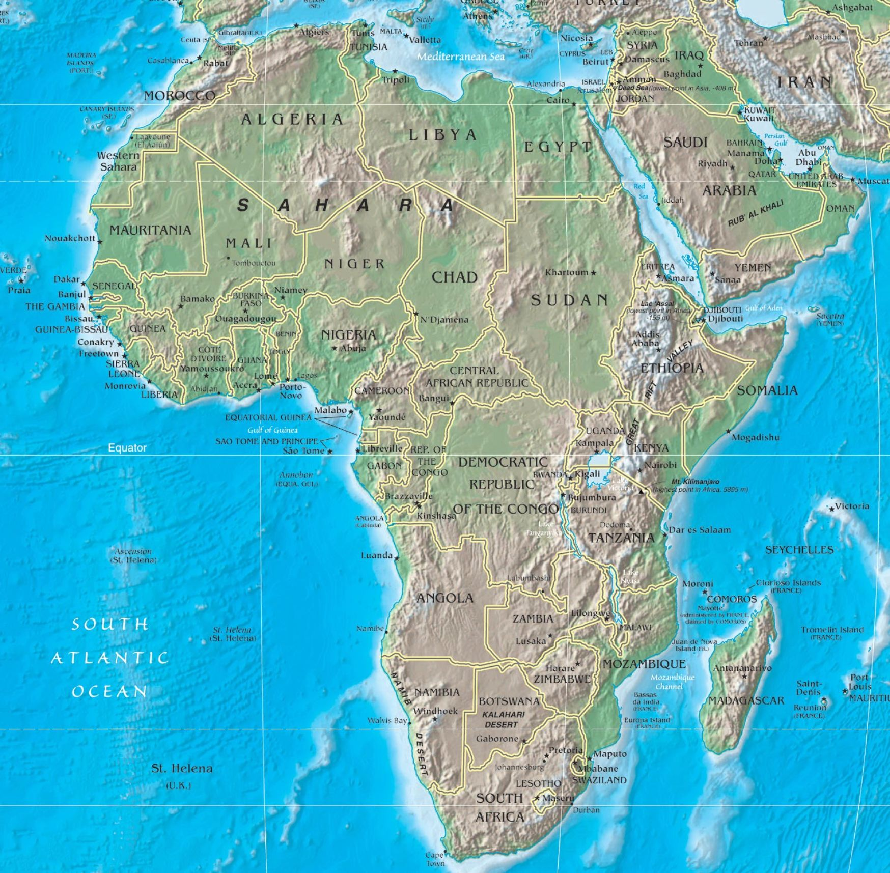 Africa Geography - World Map / World Atlas / Atlas of the ...