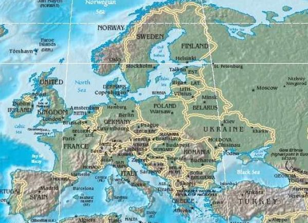 Physical map of europe with rivers pictures 2