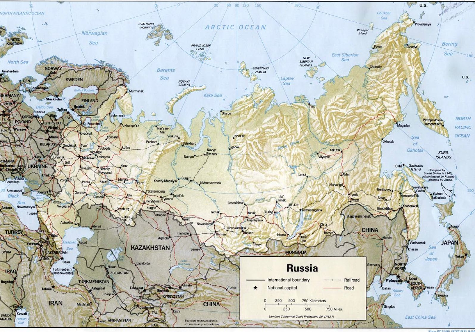 Physical map of russia and surrounding countries pictures 2