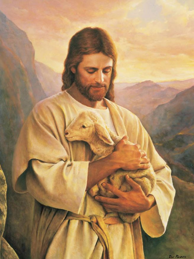 picture of jesus with lamb 2