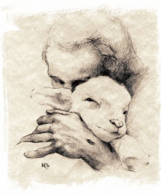 picture of jesus with lamb 4