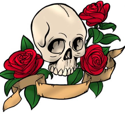 Pictures of roses and skulls pictures 3