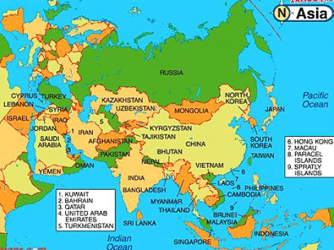political map of russia and surrounding countries 2