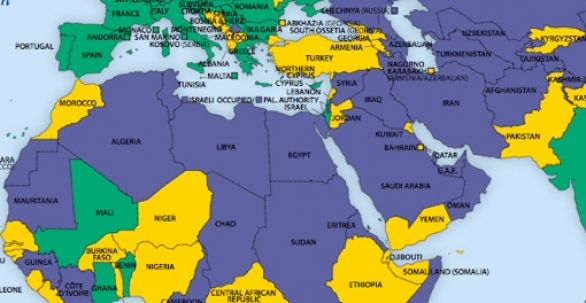 Political Map Of Middle East And North Africa.Flag Days Map Of North Africa Middle East