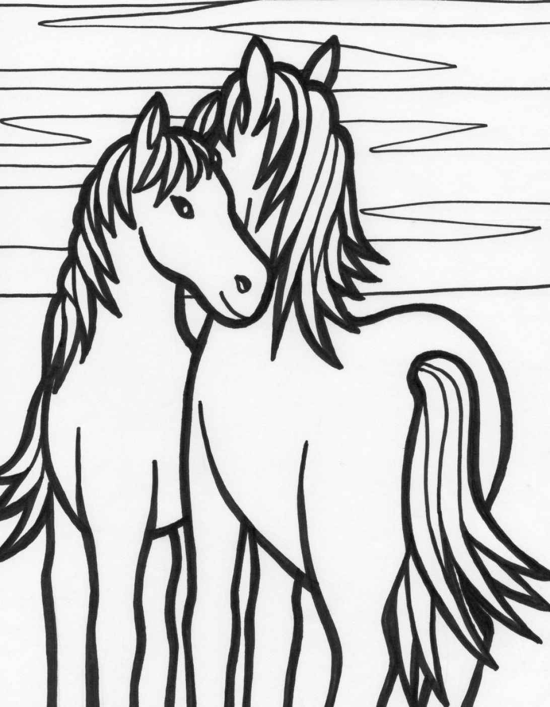Free coloring pages of a quarter for Quarter horse coloring pages