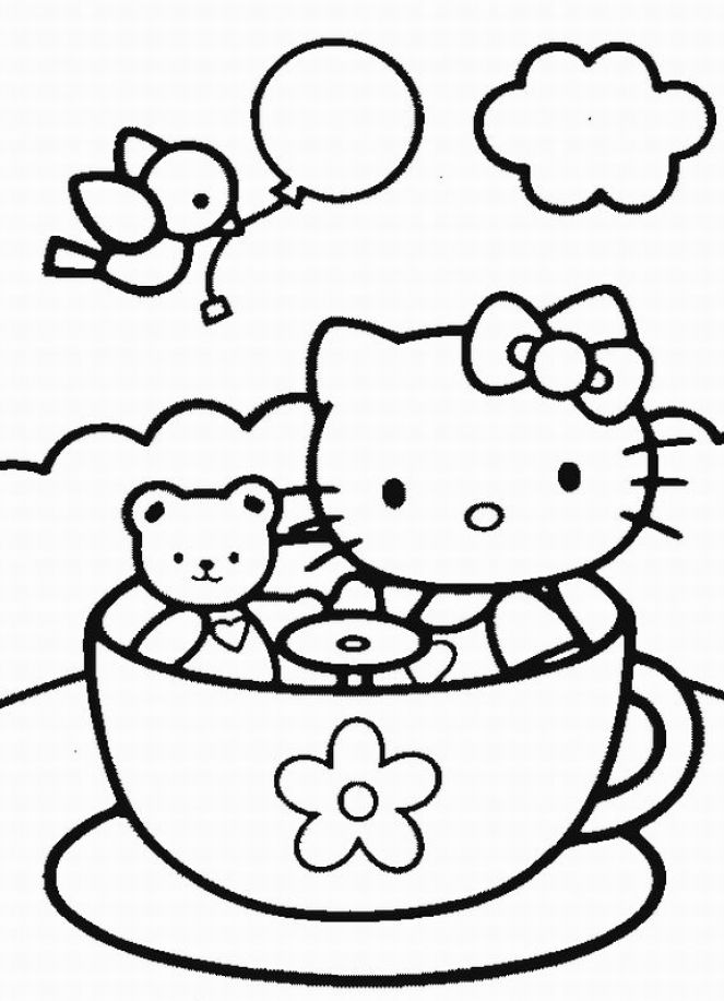 Pin Hello Kitty Princess Coloring Page Pictures On Pinterest