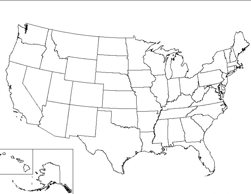 It's just a graphic of Breathtaking Printable Blank United States Map