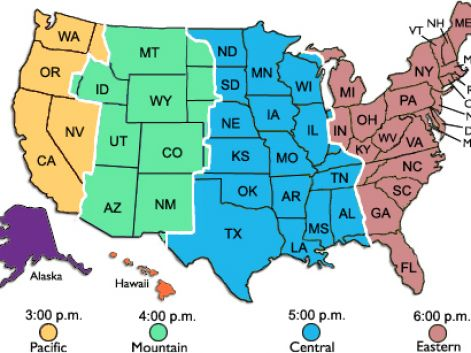 Invaluable image for printable us time zone map