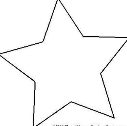 Printable star template pictures 3