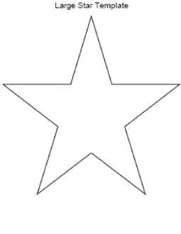 Printable star template pictures 4